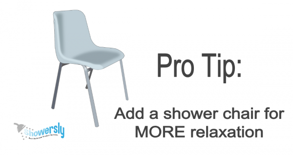 Add a Shower Chair for Extra Relaxation
