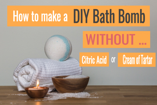 how to make a diy bath bomb without citric acid or cream of tartar blog post #2