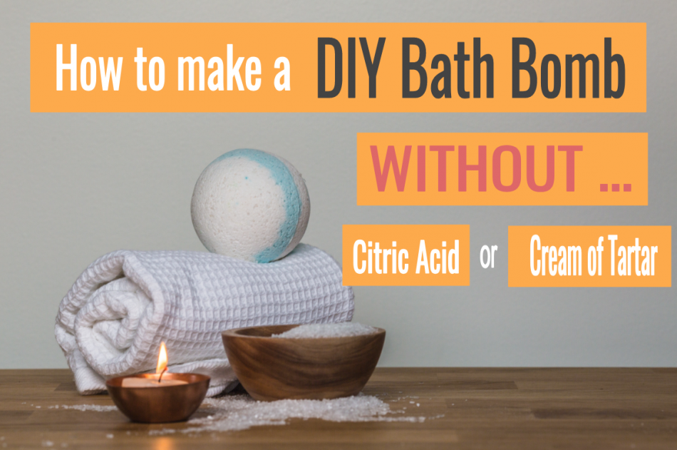 How to make DIY Bath Bombs without Citric Acid or Cream of Tartar featured image