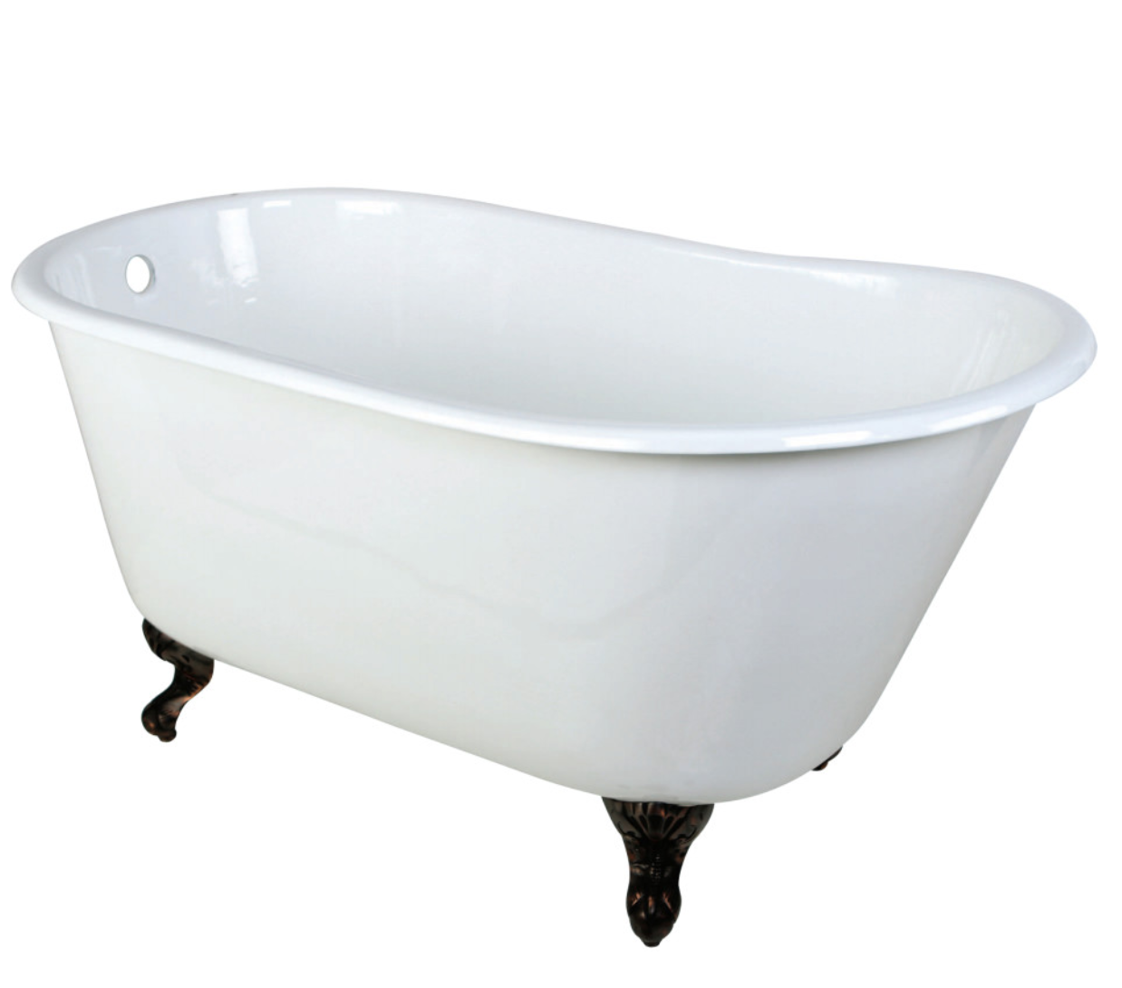 Kingston Brass Aqua Eden Cast Iron Clawfoot Bathtub
