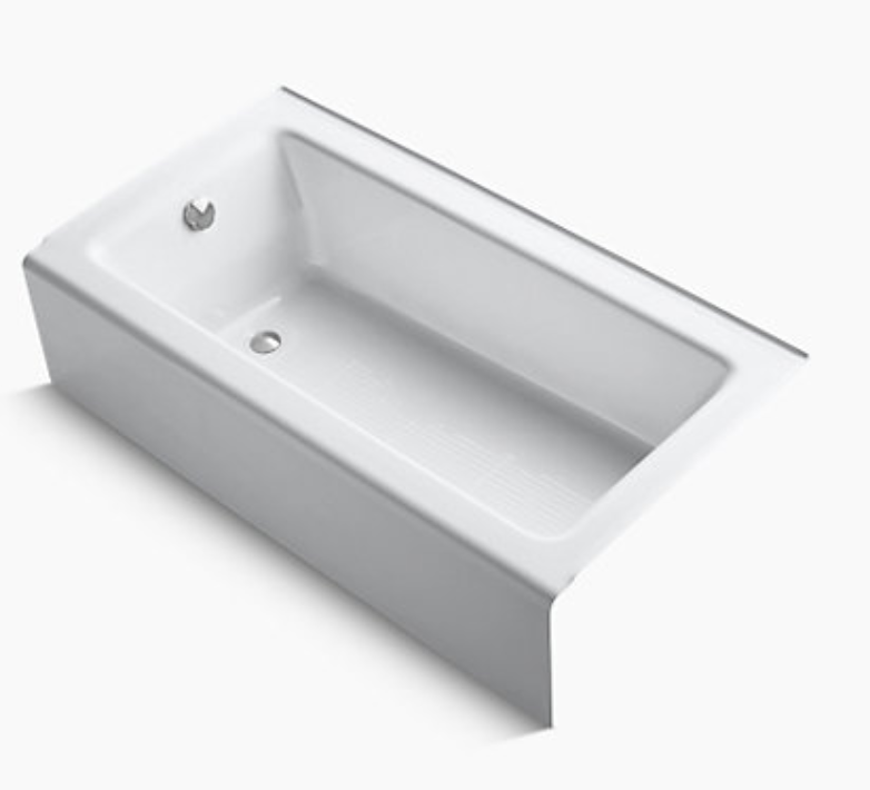 KOHLER Bellwether Cast Iron Tub (K-837-0) - Alcove