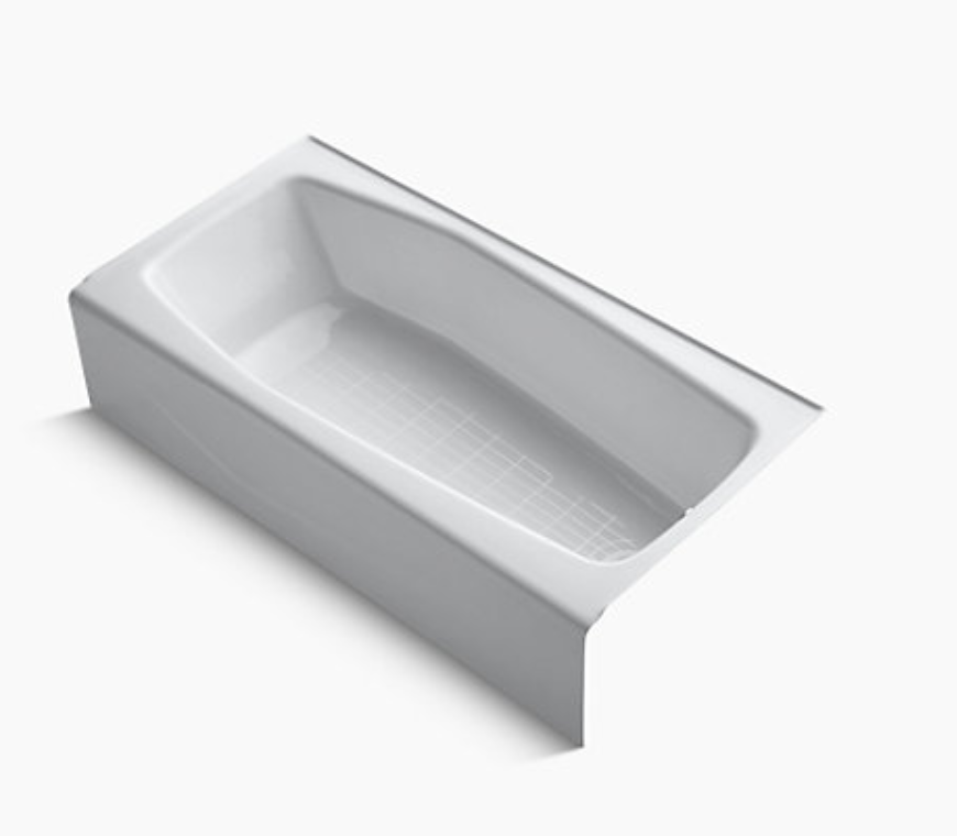 KOHLER K-716-0 Villager Cast Iron Alcove Bathtub<br />