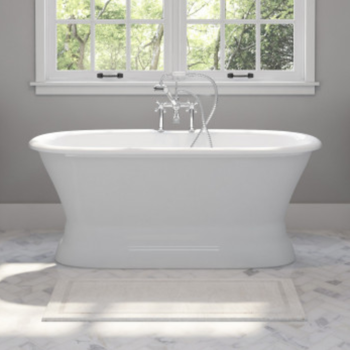 Tub Connection Polk Cast Iron Pedestal Tub