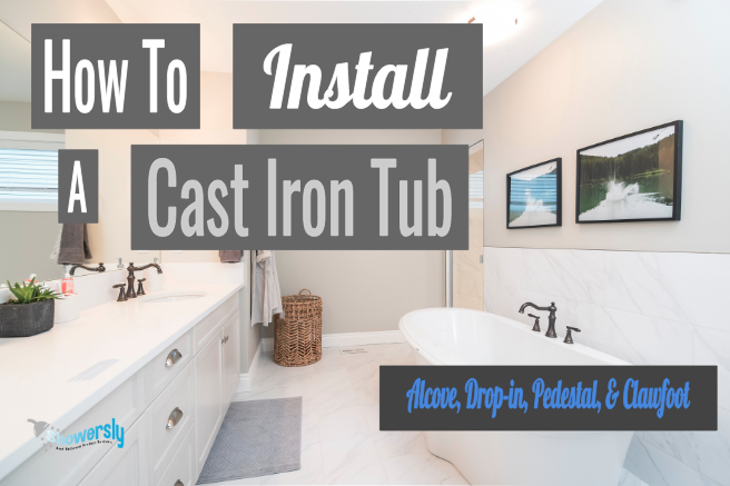 how to install a cast iron tub featured image