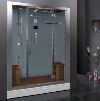 #2 best steam shower Ariel Platinum DZ972-1F8-W Steam Shower in White