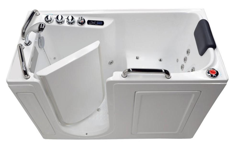 Arista 2753 Fully-Loaded Walk-in Whirlpool Bathtub