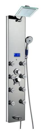 #2 best shower panel Blue Ocean Aluminum SPA392M