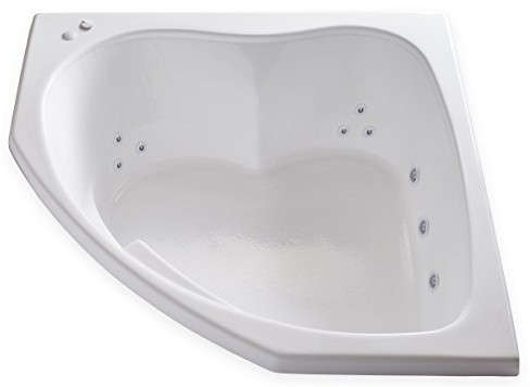 Carver Tubs - SKC5555 Corner Drop-In Whirlpool Bathtub