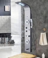 ELLO&ALLO Stainless Steel Shower Panel Tower System