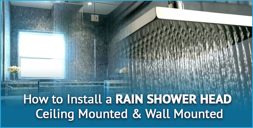 how to install a rain shower head cover image