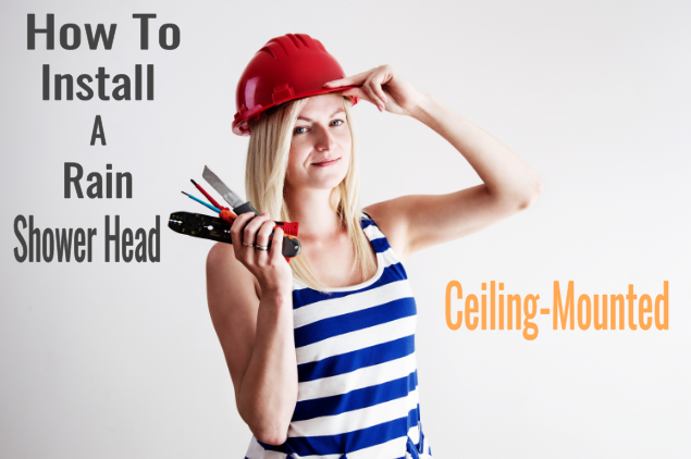 how to install a ceiling-mounted rain shower head image
