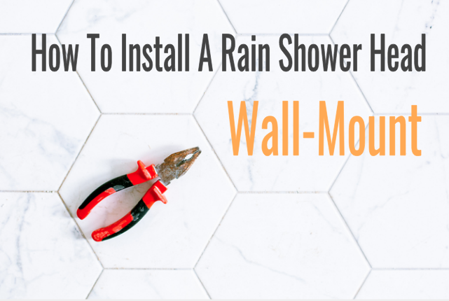 how to install a wall-mounted rain shower head image