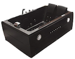 MCP Distributions 2-Person Whirlpool Massage Hydrotherapy Black Bathtub