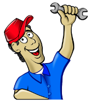 plumber with tool