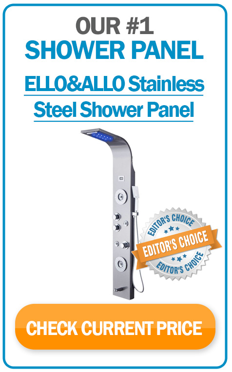 #1 shower panel system - ELLO&ALLO Stainless Steel