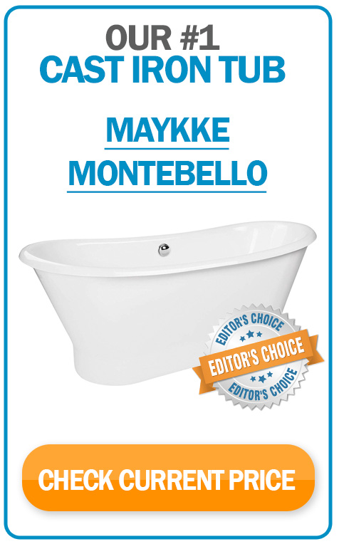 #1 cast iron tub - Maykke Montebello