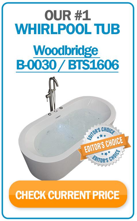 #1 whirlpool bathtub WOODBRIDGE B-0030 / BTS1606