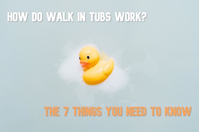how do walk in tubs work