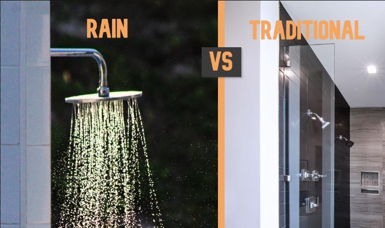 rain shower head vs regular