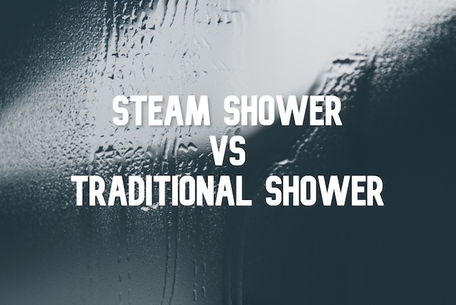 steam shower vs regular shower