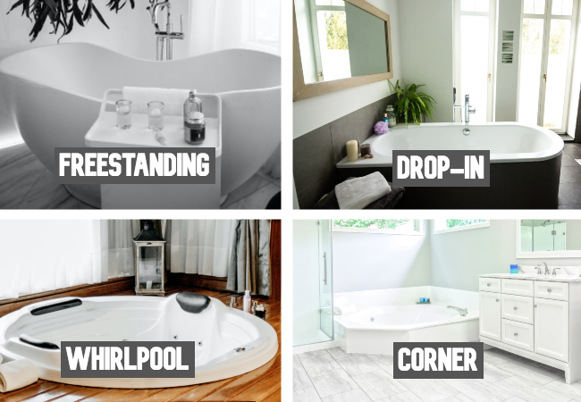 types of two person bathtubs