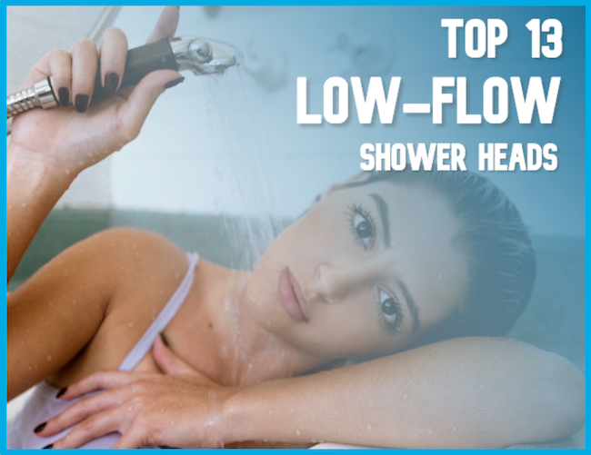Woman showering with the Best Low-Flow Shower Head of the year